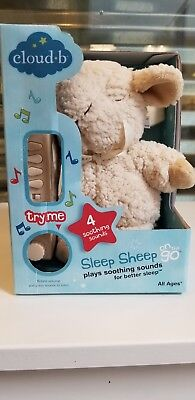 Cloud B On The Go Sleep Sheep Plush Sound Machine with 4 Soothing Sounds