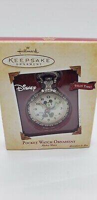 Hallmark Keepsake Disney Mickey Mouse Pocket Watch Christmas Ornament NEW!