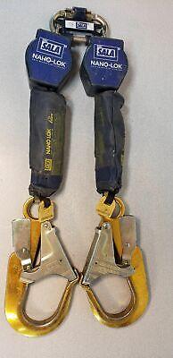 Dbi Sala 3101277 6ft Twin-leg Nano-lok Self-retracting Lifelines Srl Dual Yoyo