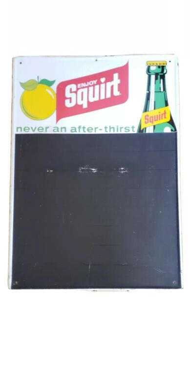 vtg Squirt Chalkboard Sign 1971 Original Soda