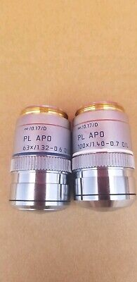 Leica Pl Apo Objective 100x1.40-0.7 Oil And 631.32 - 0.6 Oil 0.17d