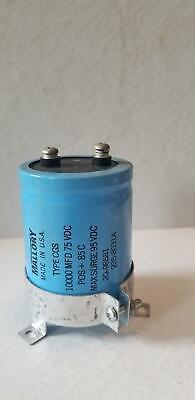 Mallory Aluminum Electrolytic Capacitor 10000 Mfd 75vdc Screw Terminal