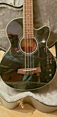 Ibanez Acoustic Electric Bass AEB 10E with TKL custom case!
