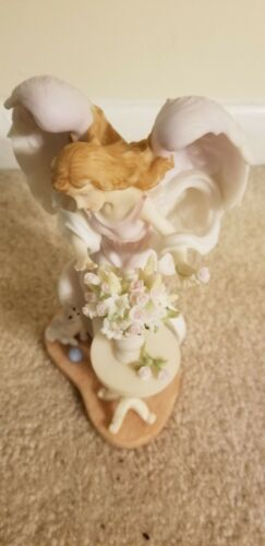 Seraphim Classics Angel Hillary Joy In Bloom 78774 Roman 7.75 H - $75.00