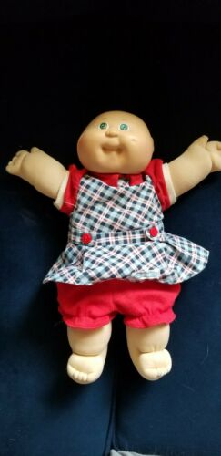 Vintage 1978-1982 Cabbage Patch Preemie Doll Green Eyes Bald COLECO With Outfit - $16.00