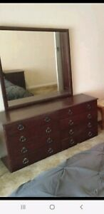 Dresser/dressing table large mirror. Draws have runners