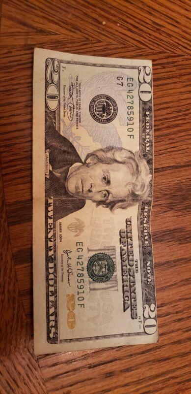 20 dollar Bill Misaligned 2013, VERY RARE
