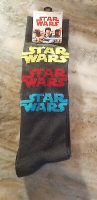 Star Wars Socks New Black 6-12 Disney HYP