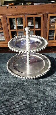 Threshold Beaded Edge Silver Metal 2-Tiered Server Stand / Cupcake Stand Target - Cupcake Stand Target