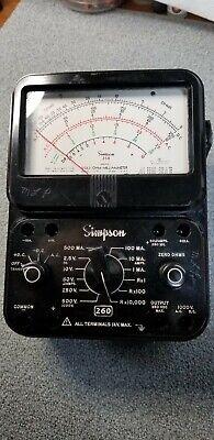 Simpson 260 Analog Multimeter Ohmmeter Voltmeter Ammeter - Series 7 Working