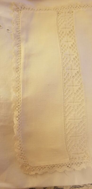 "ANTIQUE LACE LINEN SMALL 12"" X 18"" PILLOWCASE"