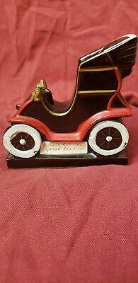 Vintage Ford 1909 Ceramic Car Mobile Oil Salesman Pen Holder for Desk