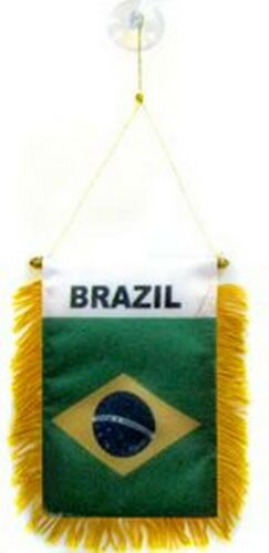 Brazil Brazilian Flag Hanging Car Pennant for Car Window or Rearview Mirror