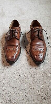 Men's MAGNANNI Brown Leather and Suede Wing Tip Oxfords Size 8 M Made In Spain