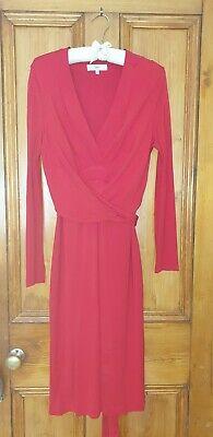 Issa London. Red Tie belt detail Dress. Size 14