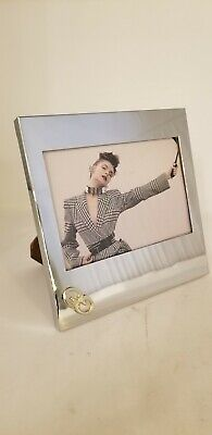 Authentic Vintage Gucci Chrome Picture Frame 6x6