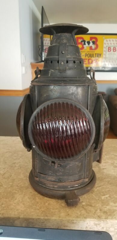 Antique Dressel Railroad Switch Lantern Light Lamp Train Arlington NJ Rail Road