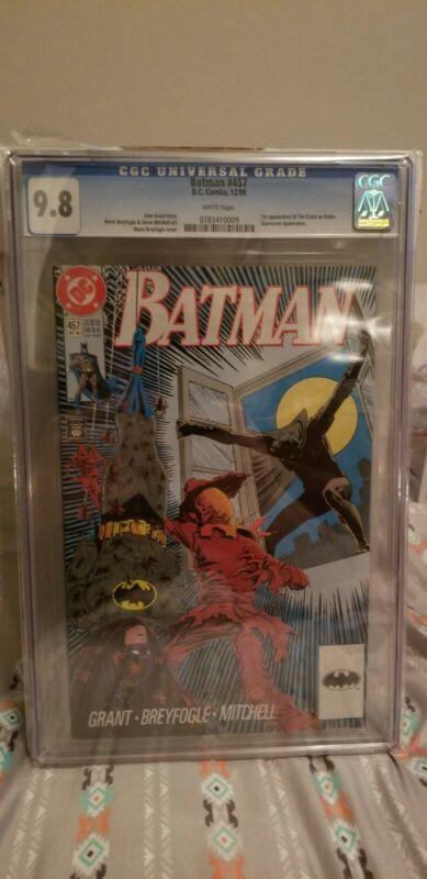 Batman 457 CGC 9.8 1st Tim Drake as Robin