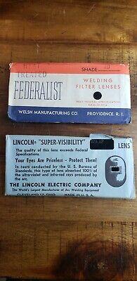 Lincoln Supervisibility Welding Lens Vintage Shade 12 Bonus Lens