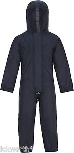 KIDS CHILDRENS BOYS GIRLS CHILDS WATERPROOF ALL IN ONE PUDDLE RAIN SUIT RAINSUIT