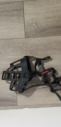 Barkless SILICONE BASKET DOG MUZZLE Size 6 Black Open Box / Fast Shipping - $12.99