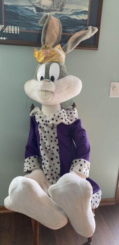 "Giant 55"" Life Size Looney Tunes Bugs Bunny Plush Warner Bros Purple King Robe"