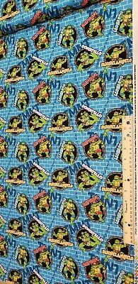 Teenage Mutant Ninja Turtle fabric, Turtle Power Poplin - Tmnt Fabric