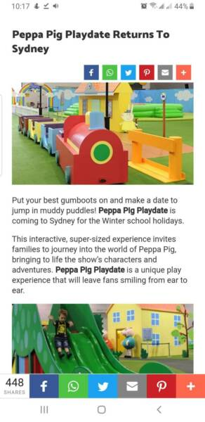 Peppa Pig Playdate Family Tickets Admit 4 Other Tickets Gumtree