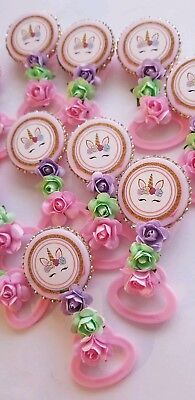 24pcs Baby Shower Unicorn Pin-On Favors for girl - Baby Shower Pins