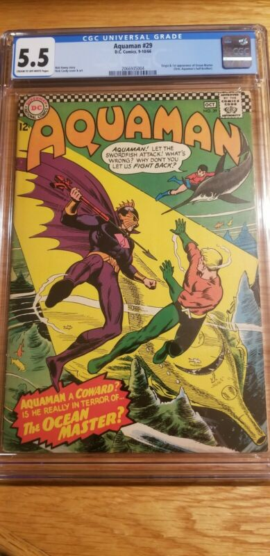Aquaman #29 cgc 5.5 (Sep-Oct 1966, DC)