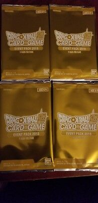 NEW x4 Limited Dragon Ball Super Card Game Event Pack 2018 Promo Sealed