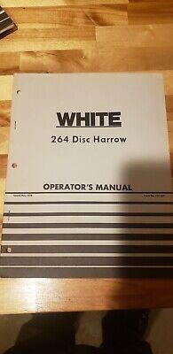 Vintage White Farm Equpment Oliver 264 Disc Harrow Operators Manual May 1978