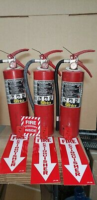 Fire Extinguisher 5lb Abc Dry Chemical 3 Pack W Tags Wow Look All The Xtras