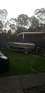 3.2m 2014 bluefin blasta with trailer and 9.9hp mercury