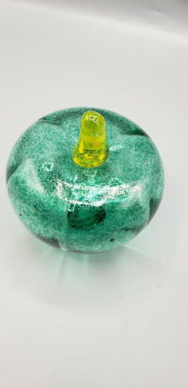 """KOSTA BODA Art Glass Fruit """"GOURD"""" FRUTTERIA SAHLIN #98911 / VINTAGE COLLECTABLE"""