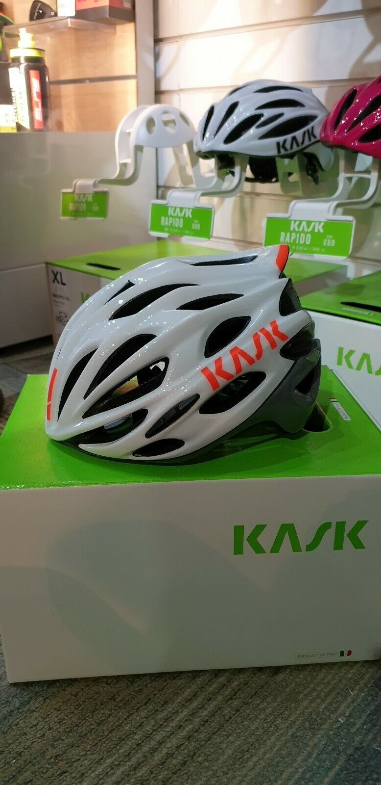 White // Pink New KASK Mojito Road Bike Bicycle Cycling Riding Helmet