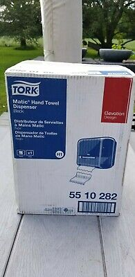 Tork 55 10 282 Elevation Matic Hand Towel Roll Dispenser Black New