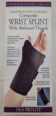 Fla Pro Lite Wrist Splint (*NEW* FLA Pro Lite Compression Composite Wrist Splint w/ Abducted Thumb  )