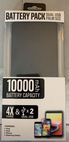 Cell Phone Portable Power Bank 2 USB Charger External Batter