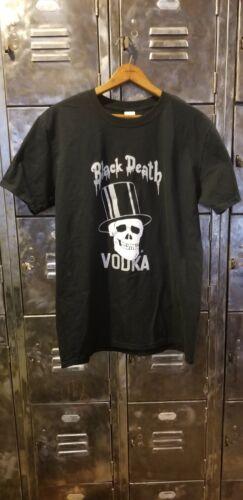 BLACK DEATH VODKA T SHIRT MENS LARGE GUNS N ROSES SLASH  - $22.00