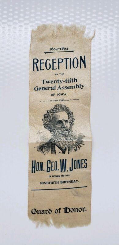 George W. Jones Iowa Senator 1894 Bday Reception