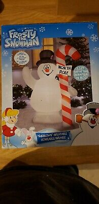 """Gemmy Christmas Airblown Inflatable 5 Foot 2 Inches 5'2"""" Frosty The Snowman"""