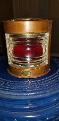 Vintage copper PORT Side oil ship light Peterhead Buchan supply store](Nautical Decor Store)