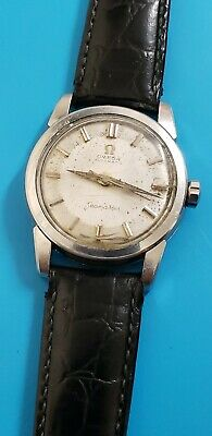 Vintage 1958 Omega Seamaster Cal 470 Automatic Mens Watch Ref 2828 10 SC Works