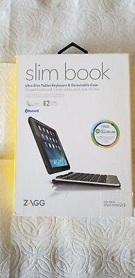 ZAGG iPad Mini 2/3 Case Slim Book Ultrathin Hinged Detachable Bluetooth Keyboard