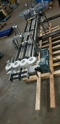 Stainless Framed Transfer With 2 4 Lane Conveyor Cap Feeder Dual Starwheel Feed