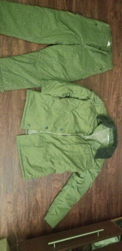 East German NVA Rain Camo Winter Uniform Coat Jacket & Pants