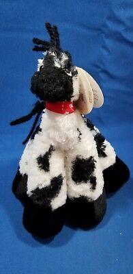 BESTEVER FUNNY FEET Plush Beanie Black White Appaloosa Horse 7.5
