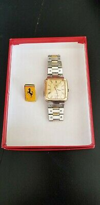 Ferrari Longine Quartz Vintage Collectors Watch GOLD Tone Stainless Steel...