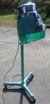 VTG Salon Latest thing Hair Dryer Roller Stand Teal Blue Green Beehive Beauty Parlor